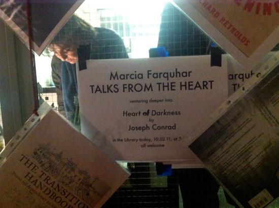 Marcia Farquhar talks to strangers